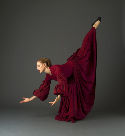 "Martha Graham Dance Company's Katherine Crockett in  Martha Graham's ""Appalachian Spring"" Photo: John Deane"