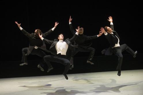 Robert Kleinendorst, Micheal Tusonevec, James Samson & Sean Mahoney in the 'Men's Quartet' from Paul Taylor's 'Cloven Kingdom'. Photo: Christopher Duggan