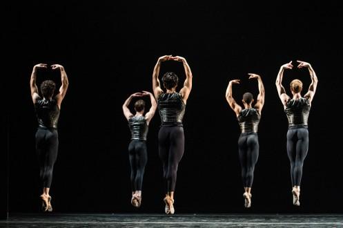 "The Men of the Cincinnati Ballet in Val Caniparoli's ""Caprice"". Photo: Amy Harris"
