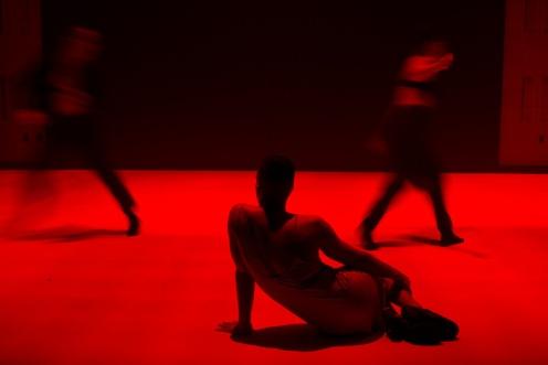 Sidra Bell Dance New York in Sidra Bell's 'garment'. Photo: Stephanie Crousillat (2014)