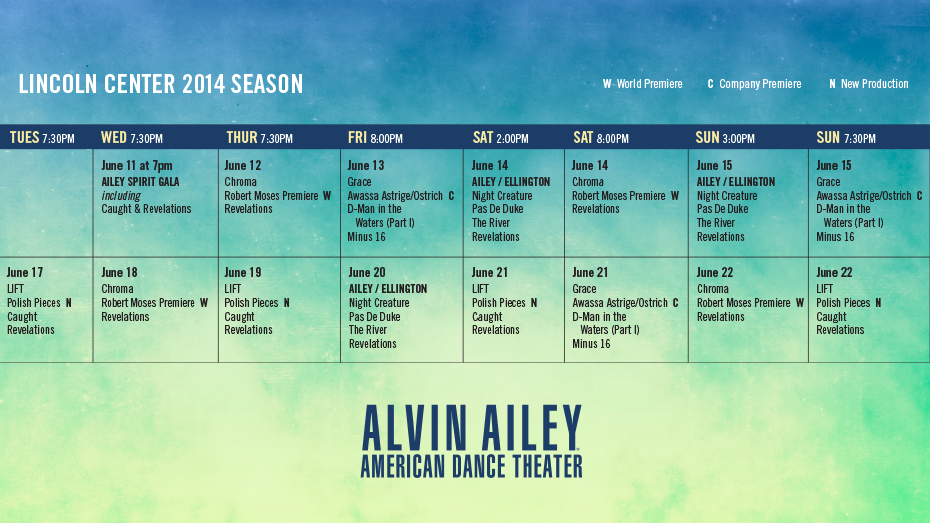 alvin ailey dance at lincoln center june 11 22 nyc dance stuff
