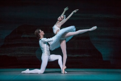 Anna Nikulina & Artem Ovcharenko in the Bolshoi Ballet's Swan Lake presented by Lincoln Center Festival 2014. Photo: Stephanie Berger