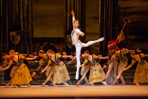 Artem Ovcharenko as Prince Siegfried in the Bolshoi Ballet's Swan Lake. Photo: Stephanie Berger