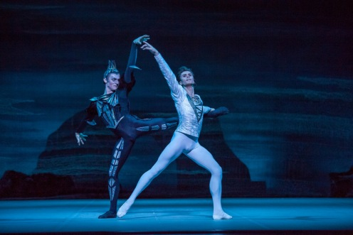 "Denis Rodkin & Artem Ovcharenko in the Bolshoi Ballet's ""Swan Lake"", presented by Lincoln Center Festival 2014. Photo: Stephanie Berger"