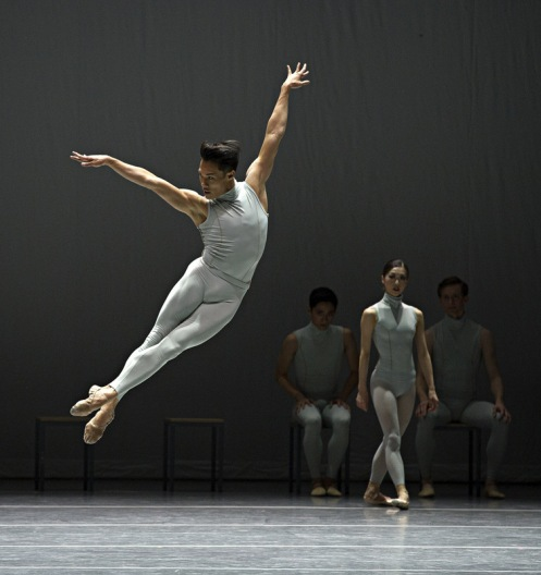 Boston Ballet's John Lam in Forsythe's The Second Detail. Photo: Gene Schiavone