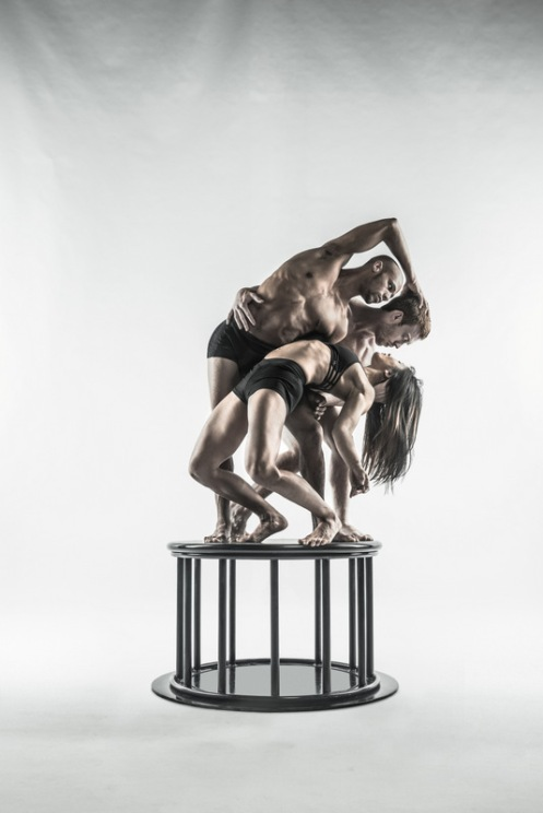 "Shawn Fitzgerald Ahern, Mike Tyus & Erica Jimbo from Pilobolus in ""On the Nature of Things"""