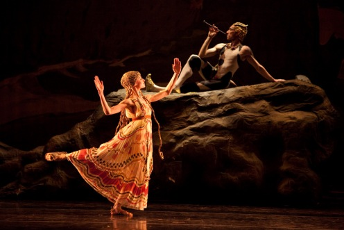 Boston Ballet's in Vaslav Nijinsky's Afternoon of a Faun. Photo: Rosalie O'Connor