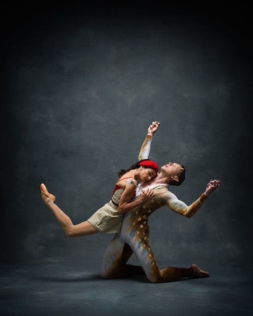 "Guest artist Alessandra Ferri & Lar Lubovitch Company dancer Tobin Del Cuore in Lar Lubovitch' ""Artemis in Athens"". Photo by: NYC Dance Project"