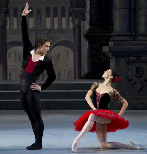 The Mikhailovsky Ballet's Natalia Osipova & Ivan Vasiliev in Don Quixote. Photo: Stas Levshin
