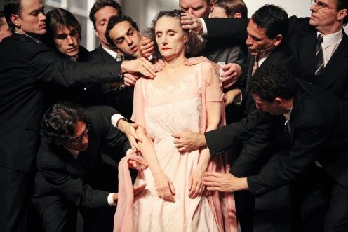 Tanztheater Wuppertal Pina Bausch's  Nazareth Panadero in Kontakthof: A piece by Pina Bausch. Photo Credit: Julieta Cevantes