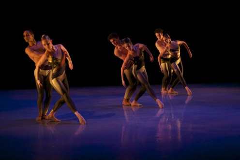 "Peridance Contemporary Dance Co. in the 1st Movement of Igal Perry's ""Thundering Silence."" Photo: Brenda Perez"