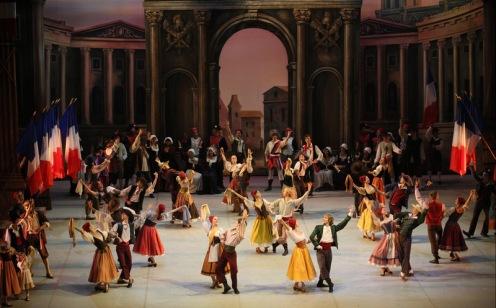 The Mikhailovsky Ballet in The Flames of Paris. Photo: Stas Levshin