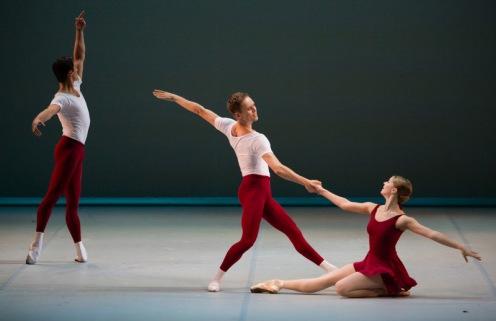 "The Mikhailovsky Ballet's Anastasia Soboleva & Leonid Sarafanov in Asaf Messerer's ""Class Concert.""  Photo: Stas Levshin"