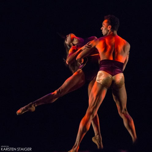 """American Ballet Theatre's Misty Copeland with Complexions' Artist-in Residence, Clifford Williams in Dwight Rhoden's """"Ave Maria."""" Photo: Melissa Bartucci"""