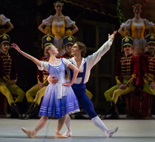 "The Mikhailovsky Ballet's Angelina Vorontsova & Ivan Vasiliev in Petipa's ""Le Halte de Cavalerie."" Photo: Mikhailovsky Theatre"