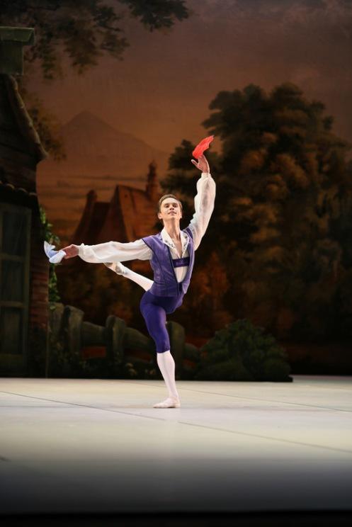 The Mikhailovsky Ballet's Leonid Sarafanov in Petipa's Le Halte de Cavalerie. Photo: Svetlana Avvakum