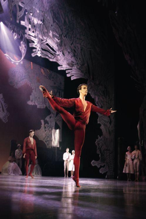 "Royal Danish Ballet Principal Dancer Ulrik Birkkjaer in August Bournonville's ""A Folktale."" Photo: ©Costin Radu"
