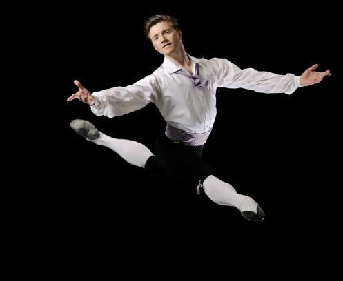 "Royal Danish Ballet Principal Dancer Alban Lendorf in ""Napoli."" Photo: ©Costin Radu"