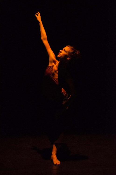 "Carys Staton in Russell Maliphant's ""Two"". Photo: ©Hugo Glendinning"