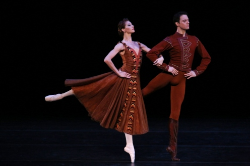 "The Mariinsky Ballet in Jerome Robbins'""In the Night"" at BAM Howard Gilman Opera House. Photo: Julieta Cervantes"