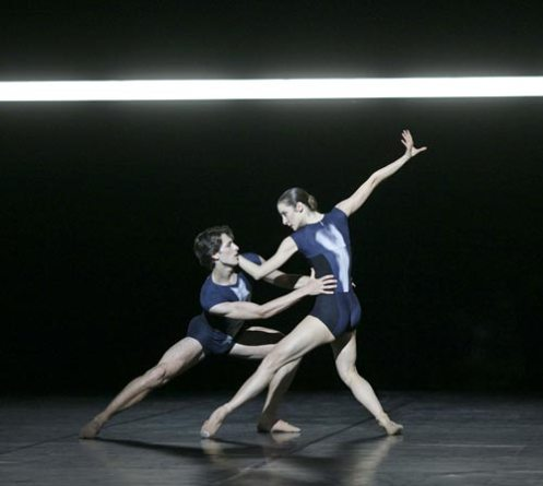 "Agnès Letestu & Mathieu Ganio in Wayne McGregor's ""Genus."" Photo: Laurent Philippe"
