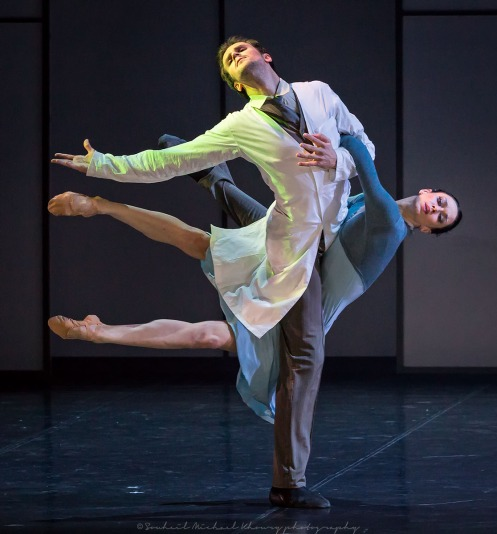 "The Eifman Ballet of St. Petersburg performing Boris Eifman's Newest Ballet ""Up & Down.""  Photo: Michael Khoury"