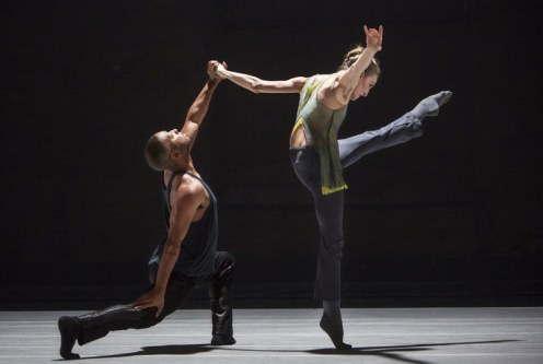 "Kyle Abraham & Wendy Whelan performing Kyle Abraham's ""The Serpent and the Smoke."" Photo: Yi-Chun Wu"