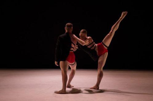 "10 Hairy Legs' Nicholas Sciscione & Alex Biegelson in Stephen Petronio's ""Bud"" Photo: Rachel Neville"