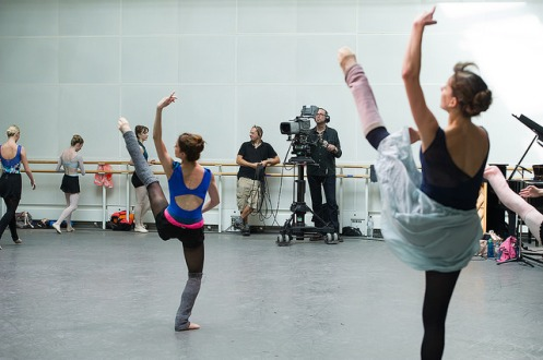 The Royal Ballet's live-stream as part of World Ballet Day, 2014 © ROH. Photo by Sim Canetty-Clarke, 2014.