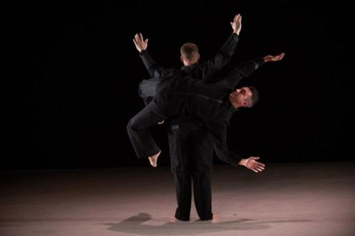 "10 Hairy Legs' Derek Crescenti & William Tomaskovic in David Parker's ""Slapstuck"" Photo: Rachel Neville"