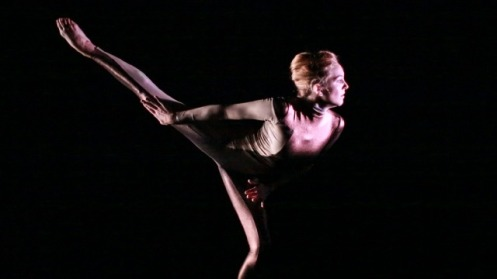 "Michaela Mann performing Devin Albeda's ""Individuate"" with music by Nick Jania. Photo: Lora Robertson."