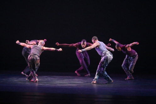 "Alvin Ailey American Dance Theater in Ronald K. Brown's ""Four Corners."" Photo: Bill Hebert"