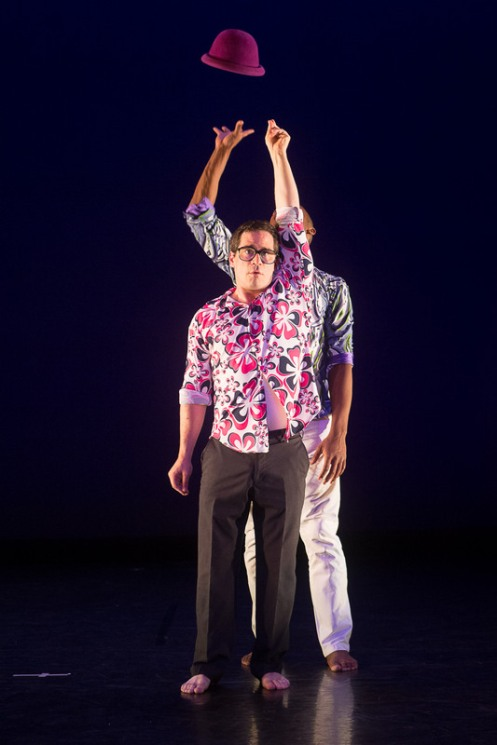 "Mark Gindick (foreground) & Kyle Marshall in Doug Elkins' ""Hapless Bizarre."" Photo by Christopher Duggan courtesy of Jacob's Pillow 2014"