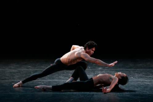 "Fang Yi Sheu & Herman Cornejo in ""Pheromones."" Photo © Erin Baiano 2014 Vail International Dance Festival"