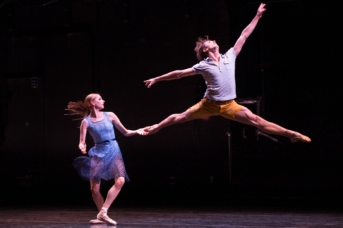 "BalletCollective's Ashley Laracey & Harrison Coll in Troy Schumacher's ""Blackbirds."" Photo: Matthew Murphy"