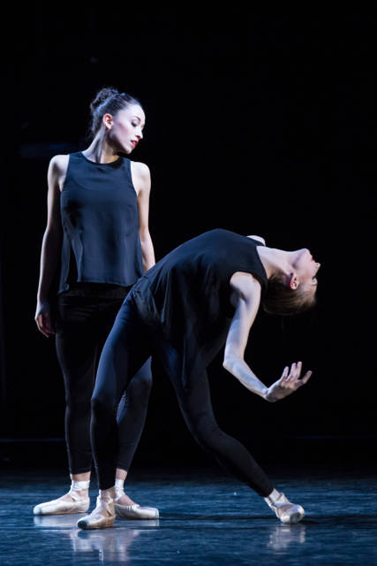 "BalletCollective's Meagan Mann & Ashley Laracey in Troy Schumacher's ""Invisible Divide"" Photo: Matthew Murphy"