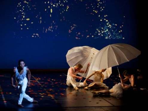Ballet Memphis' Kendall G. Britt Jr. (left) in Julia Adam's 'Devil's Fruit.' Photo: © Ari Denison