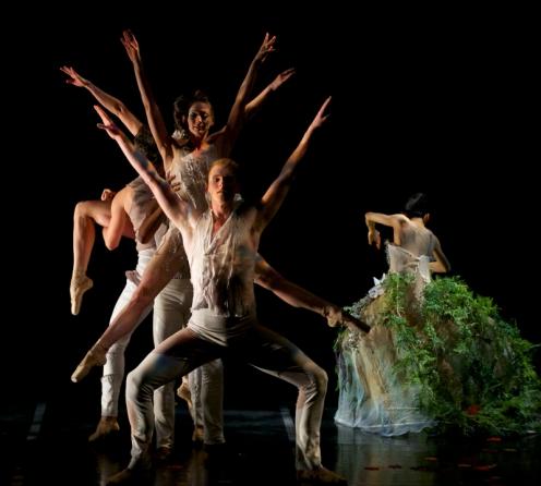 Ballet Memphis' Steven McMahon (front) in Julia Adam's 'Devil's Fruit.' Photo: © Ari Denison