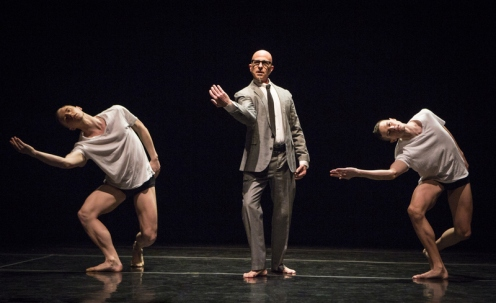 "Stephen Petronio Company in ""Big Daddy (Deluxe)"" Pictured L-R: Nicholas Sciscione, Stephen Petronio, Joshua Tuason. Photo: Yi-Chun Wu"