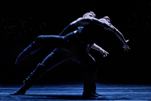 "Ballet BC's Alexis Fletcher & Christoph Von Riedeman in Crystal Pite's ""Solo Echo."" Photo: Micheal Slobodian"