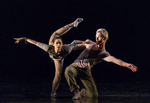 "Santa Barbara Dance Theater's Nikki Pfeiffer & Malcom McCarth in the duet from Joshua Beamish's ""Salt."""