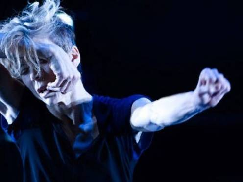 "Louise Lecavalier in ""So Blue."" Photo: André Cornellier"